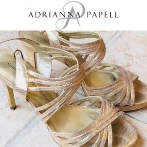 Strappy Sandal👠Champagne Adrianna Papell Boutique